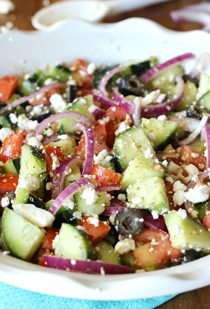 Cucumber Greek Salad